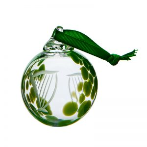 Harp Bauble - Crystal 100% Hand Cut - The Irish Handmade Glass Company