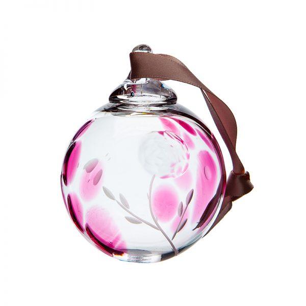 Irish Rose Bauble - Crystal 100% Hand Cut - The Irish Handmade Glass Company