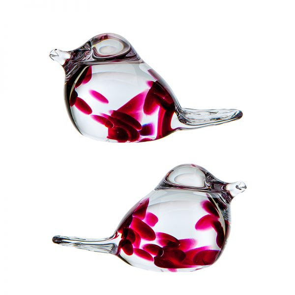Irish Rose Love Birds - Crystal 100% Hand Cut - The Irish Handmade Glass Company