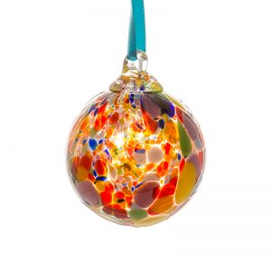 Multi Colour Bauble - Crystal 100% Hand Cut - The Irish Handmade Glass Company