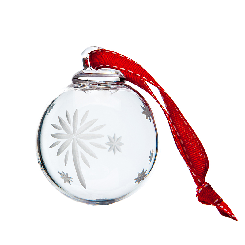 North Star Bauble - Crystal 100% Hand Cut - The Irish Handmade Glass Company