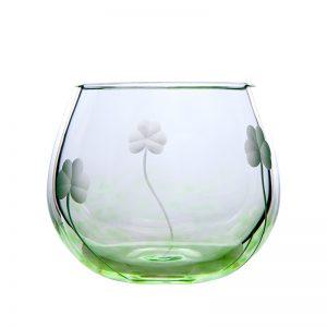Shamrock Candle Votive - Crystal 100% Hand Cut - The Irish Handmade Glass Company