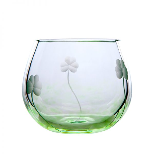 Shamrock Candle Votive - Crystal 100% Hand Cut - The Irish Handmade Glass Company