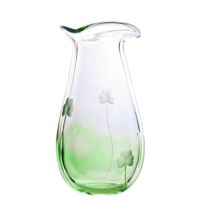 Shamrock Large Vase - Crystal 100% Hand Cut - The Irish Handmade Glass Company