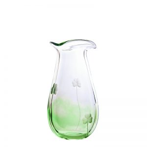 Shamrock Medium Vase - Crystal 100% Hand Cut - The Irish Handmade Glass Company