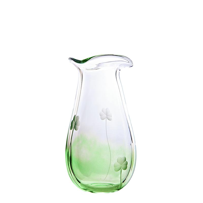 Shamrock Medium Vase - Crystal 100% Hand Cut - The Irish Handmade Glass Company