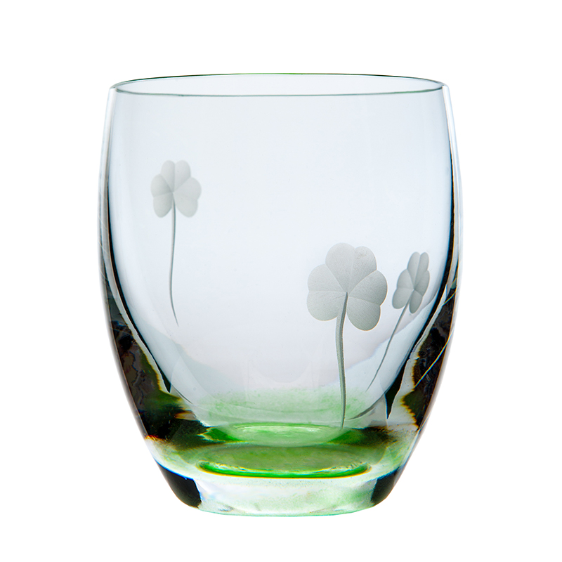 Shamrock Tumbler - Crystal 100% Hand Cut - The Irish Handmade Glass Company