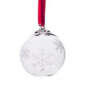 Snowflake Bauble - Crystal 100% Hand Cut - The Irish Handmade Glass Company