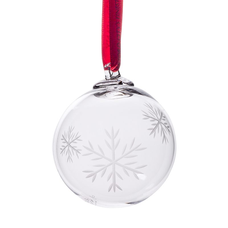 Snowflake Bauble - Crystal 100% Hand Cut - The Irish Handmade Glass Company