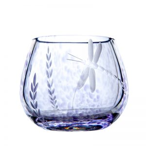 Wild Heather Candle Votive - Wild Heather Bud Vase - Crystal 100% Hand Cut - The Irish Handmade Glass Company