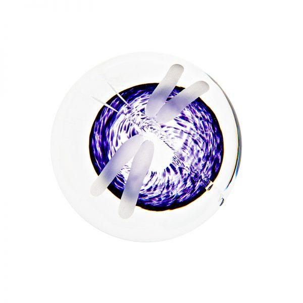 Wild Heather Handcooler - Crystal 100% Hand Cut - The Irish Handmade Glass Company