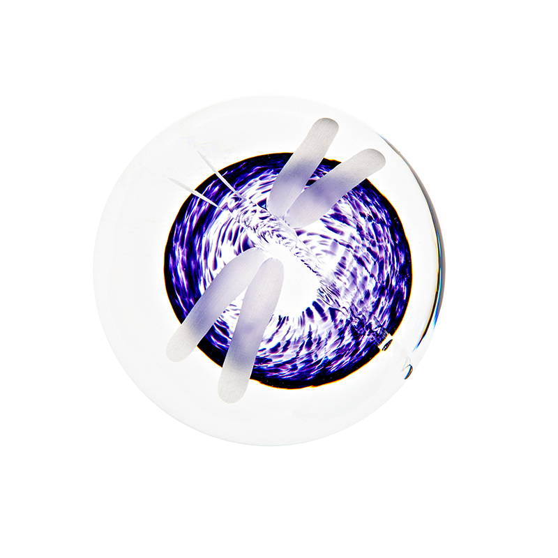Wild Heather Handcooler - Crystal 100% Hand Cut - The Irish Handmade Glass Company