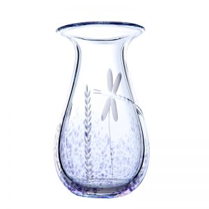 Wild Heather Large Vase - Crystal 100% Hand Cut - The Irish Handmade Glass Company