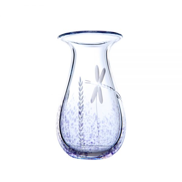 Wild Heather Posy Vase - Crystal 100% Hand Cut - The Irish Handmade Glass Company