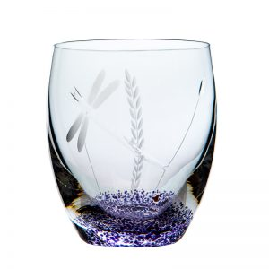 Wild Heather Tumbler - Crystal 100% Hand Cut - The Irish Handmade Glass Company