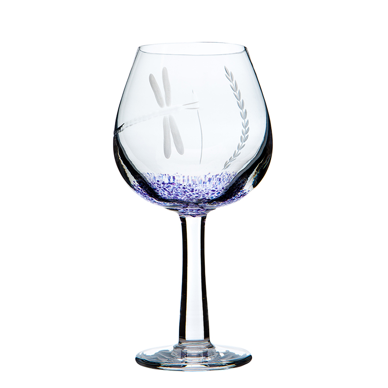 Wild Heather Wine Glass - Crystal 100% Hand Cut - The Irish Handmade Glass Company