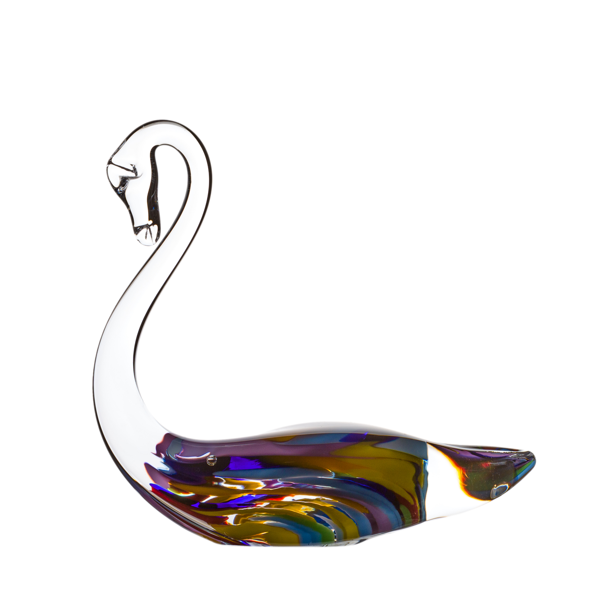 Wildflower Swan - Crystal 100% Hand Cut - The Irish Handmade Glass Company