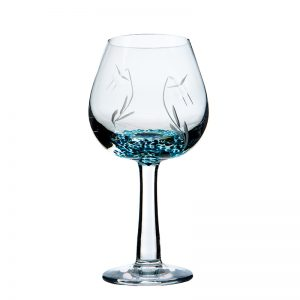 Celtic Meadow Wine Glass - Crystal 100% Hand Cut - The Irish Handmade Glass Company