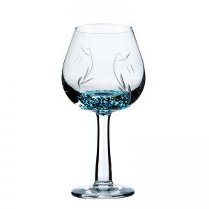 Celtic Meadow Wine Glass - Crystal 100% Hand Cut - The Irish Handmade Glass Company