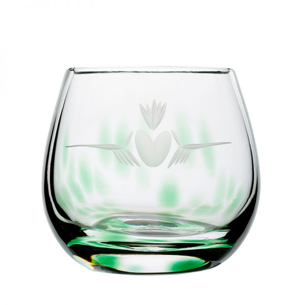 Claddagh Candle Votive - Crystal 100% Hand Cut - The Irish Handmade Glass Company