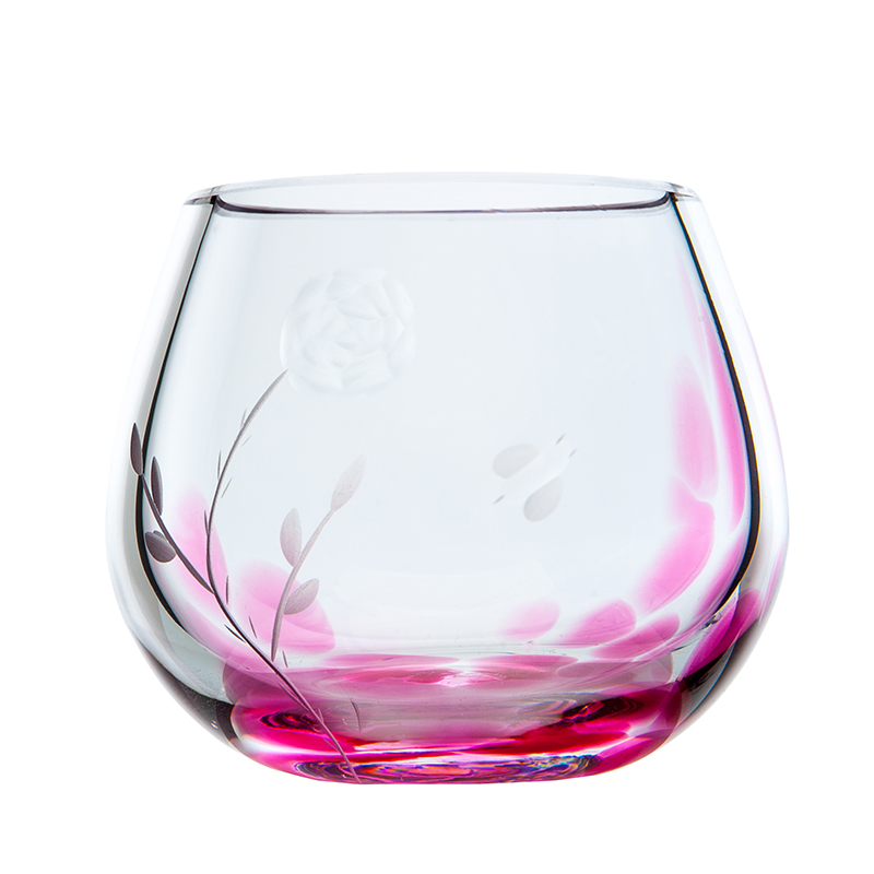 Irish Rose Candle Votive - Crystal 100% Hand Cut - The Irish Handmade Glass Company