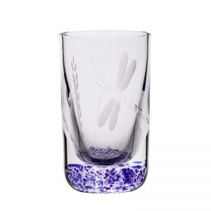 Wild Heather Shot Glass - Crystal 100% Hand Cut - The Irish Handmade Glass Company