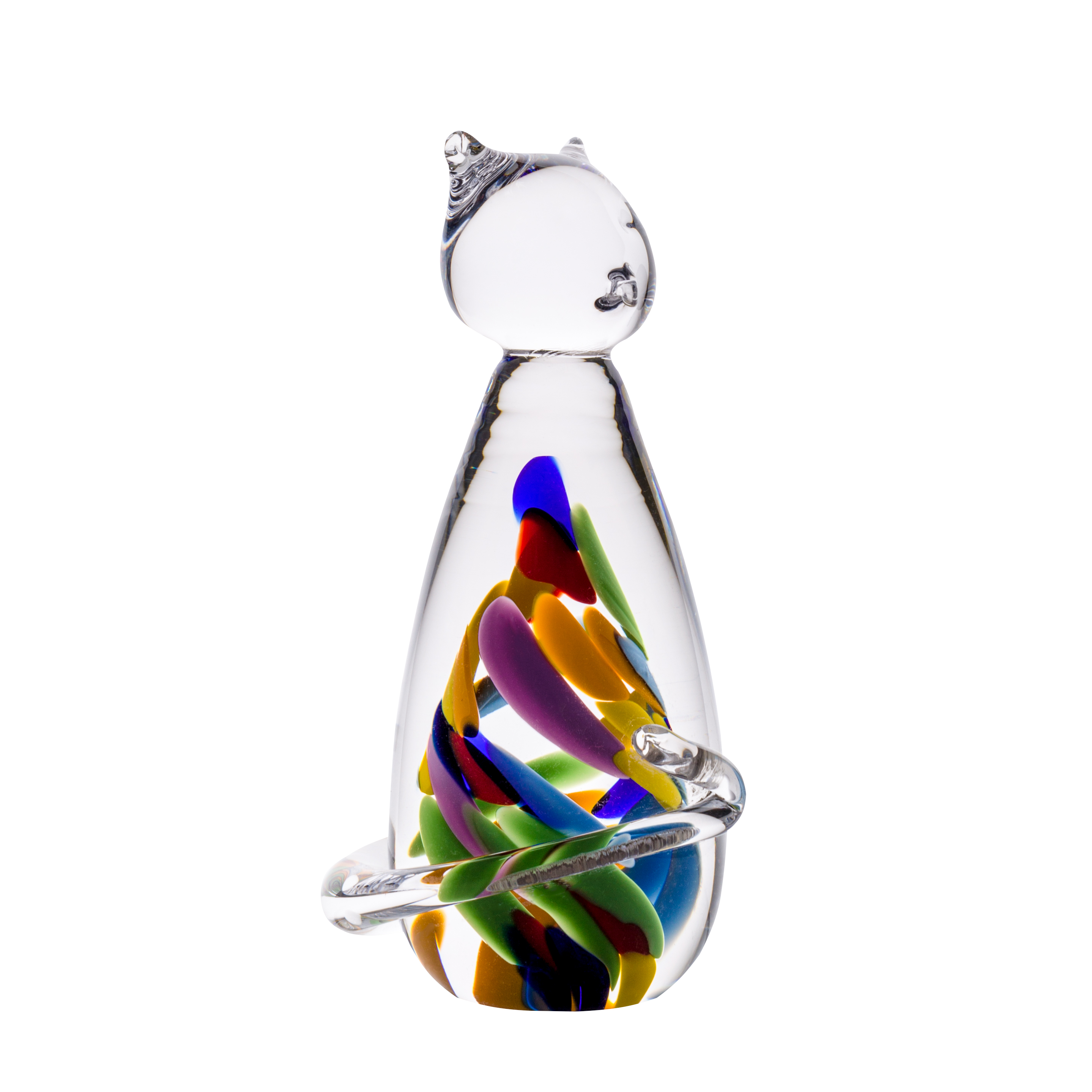 Wildflower Cat - Crystal 100% Hand Cut - The Irish Handmade Glass Company