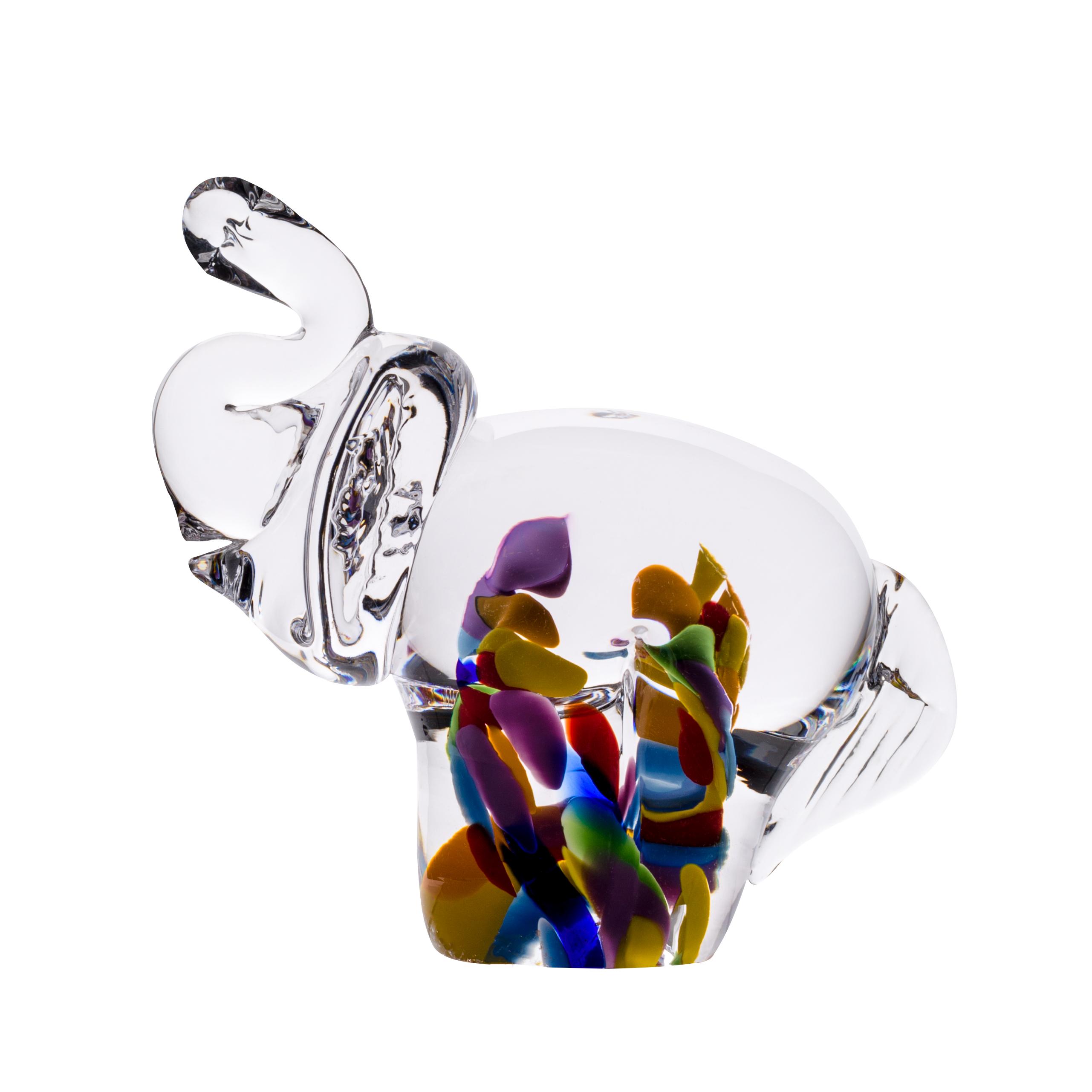 Wildflower Elephant - Crystal 100% Hand Cut - The Irish Handmade Glass Company
