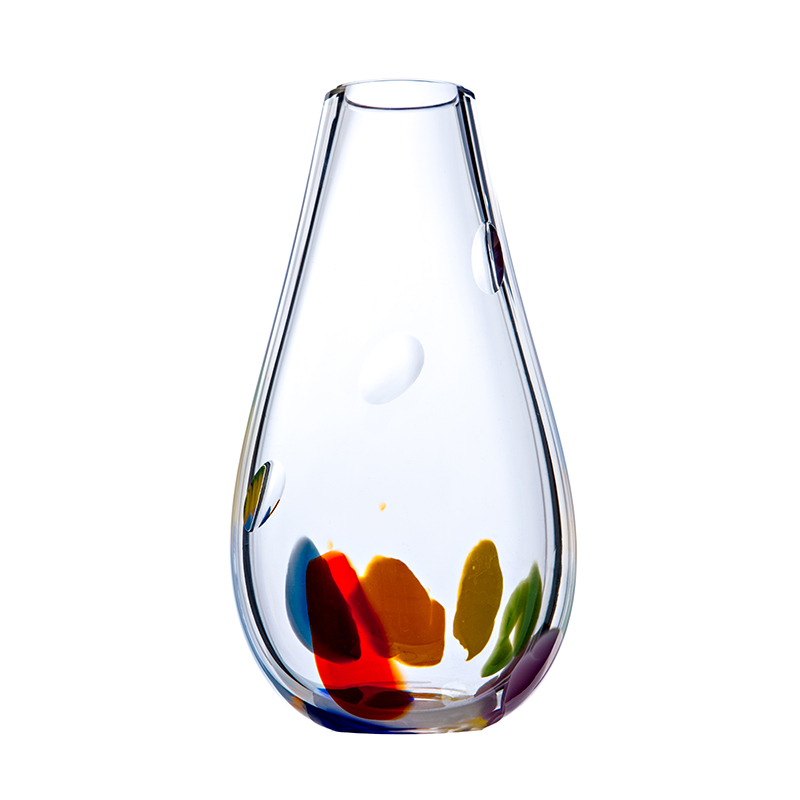 Wildflower Large Vase - Crystal 100% Hand Cut - The Irish Handmade Glass Company
