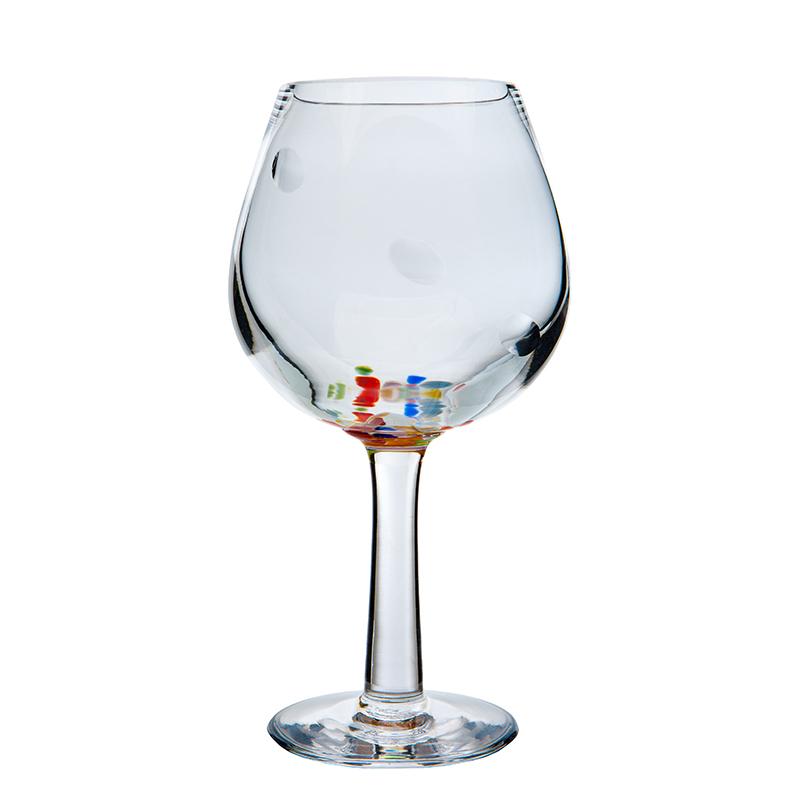 Wildflower Wine Glass - Crystal 100% Hand Cut - The Irish Handmade Glass Company